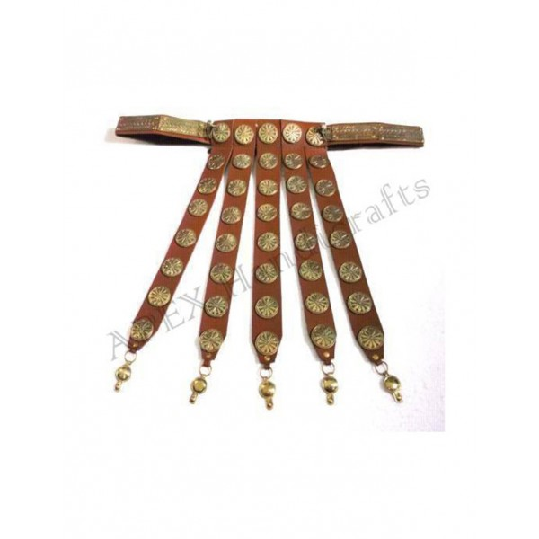 Roman Leather Belt with brass buttons  APX-1206