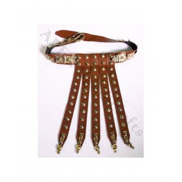Roman Leather Belt with brass buttons  APX-1207