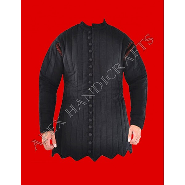 Medieval black gambeson APX-910
