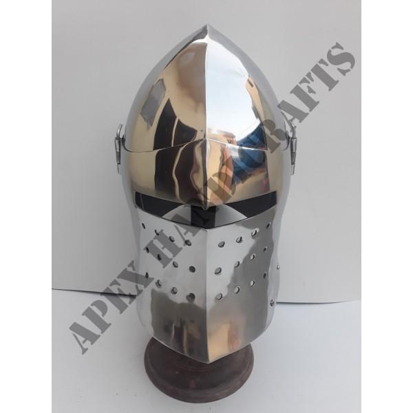 Medieval Barbuta Helmet APX-666
