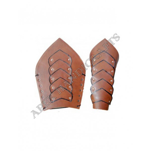 Leather Leg Guard with Brass button Fittings APX-1...