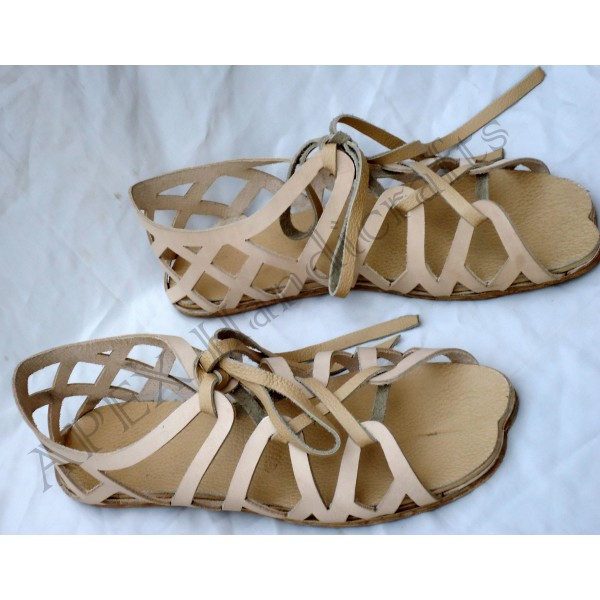 Greek sandals with hobnails APX-406