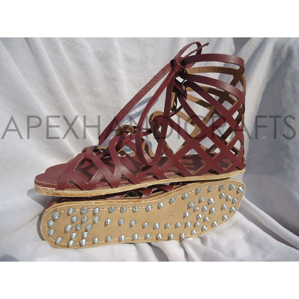 Greek Leather Sandals APX-409