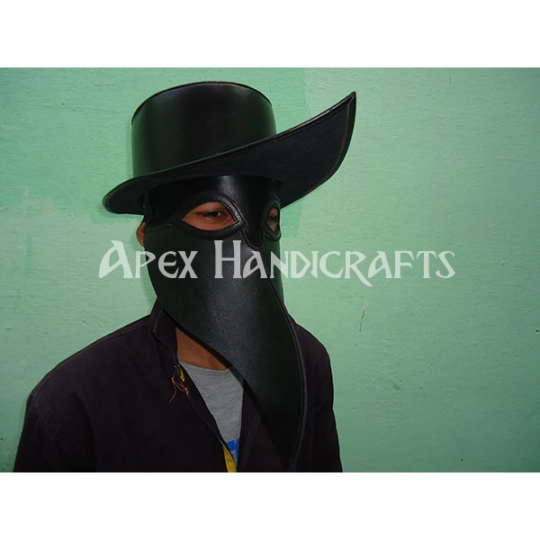 Leather Mask black color APX-1255