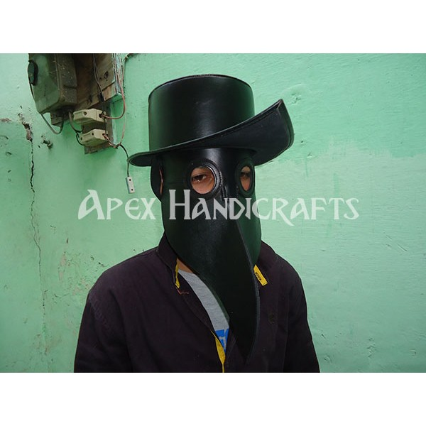 Leather Mask black color APX-1256