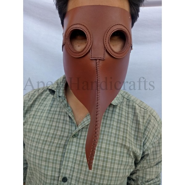 Leather Mask Red color APX-1257