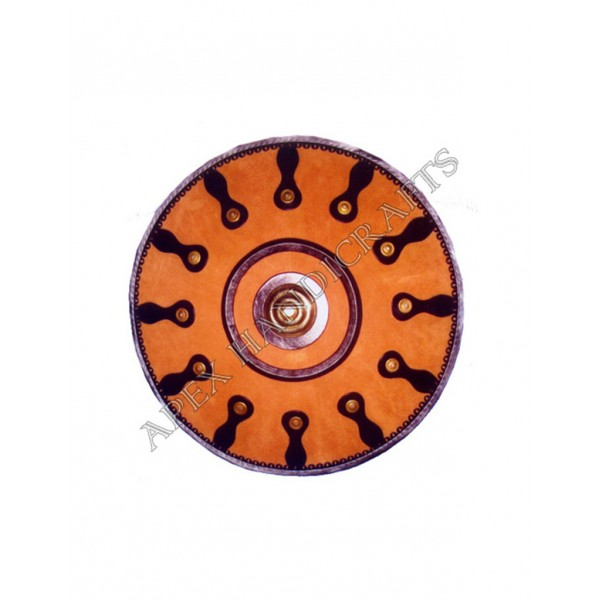 Roman Round Leather Shield APX-502
