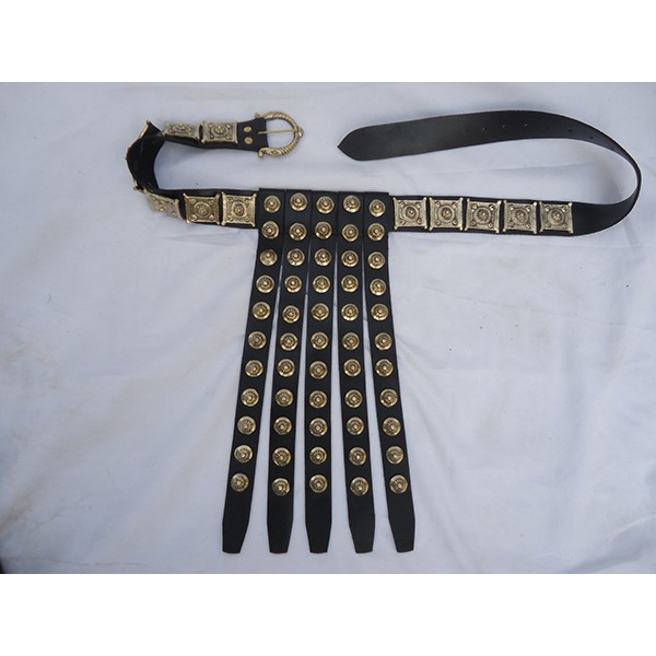 Roman Leather Belt with brass buttons  APX-1204