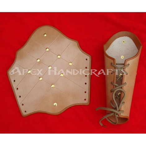 Leather Arm Guard with Brass button Fittings APX-157