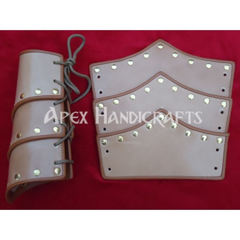 Leather Arm Guard with Brass button Fittings APX-153