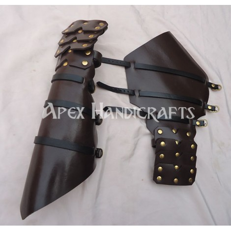 Leather Arm Guard with Brass button Fittings APX-155