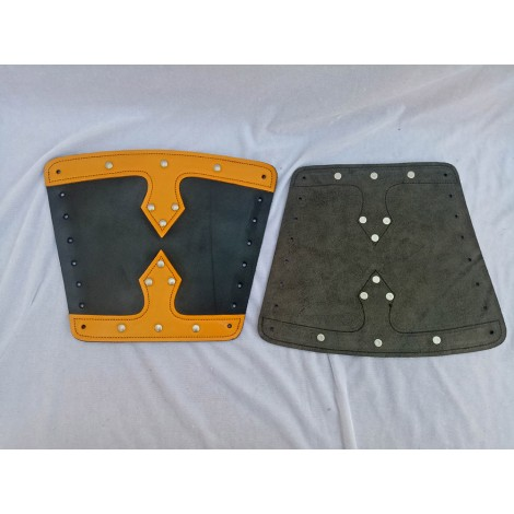 Leather Arm Guard with Brass button Fittings APX-159