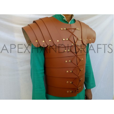 Leather Lorica with Leather Fitting and Laces APX-257