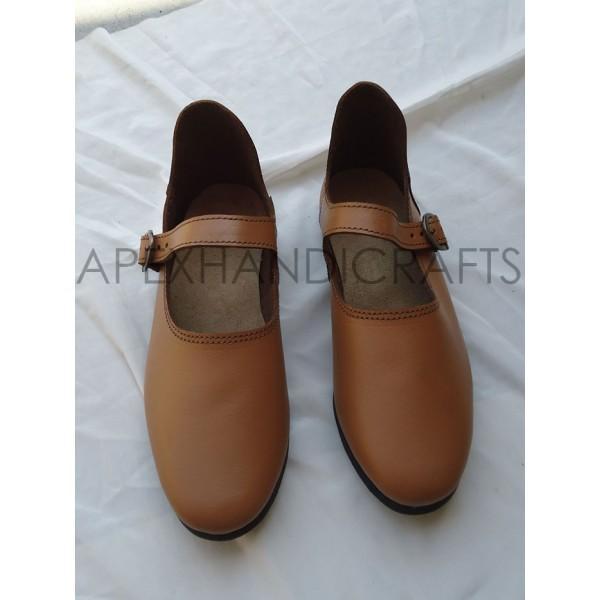 Ladies Leather Sandals APX-412