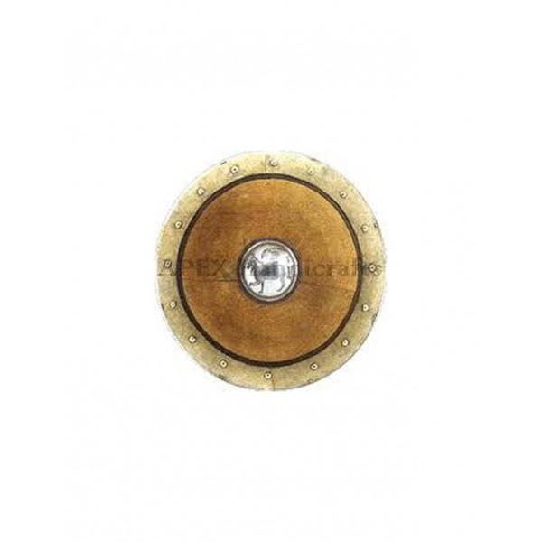 Greek Round Leather Shield APX-506