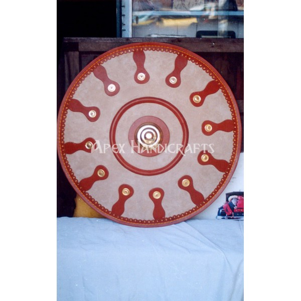 Roman Round Leather Shield APX-503