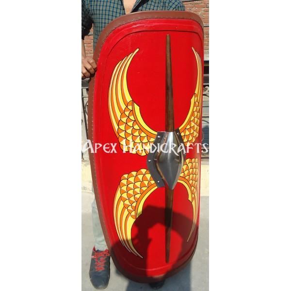Wooden Roman Republican Shield APX-532